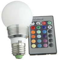 Wholesale globe Led RGB globe bulb GU10 E27 E14 B22 W V RGB Color Changeable LED Light Bulb lamp Wireless Remote Control