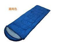 Cheap Wholesale-op-Free shipping Envelope 210*75CM 3 Season Outdoor Hiking sleep bag for Camping sleeping bag & Red,Blue,orange,green,purple