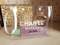 Wholesale luxury brand women professional makeup case bag organizer transparent waterproof cosmetic bag handbag