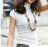Women basic match - plus size new women s summer all match short sleeve turtleneck t shirt basic shirt colors S M L XL XL XL XL XL XL