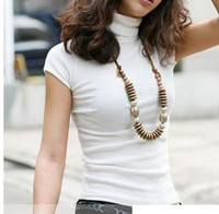 Wholesale plus size new women s summer all match short sleeve turtleneck t shirt basic shirt colors S M L XL XL XL XL XL XL