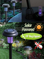 Wholesale 2014 New Solar LED Light UV Bug Zapper Light up and Anti Mosquito Lamp Mosquito Repellent SV005595