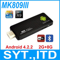 Wholesale Quad Core TV Stick MK809 III RK3188 Cortex A9 Android TV Dongle GB RAM GB HDMI Wifi Smart TV Mini PC MK809III