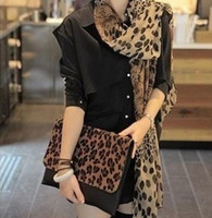 Wholesale Europe And The United States Leopard Print Scarf Cashmere Chiffon Scarf Shawl And Women M202