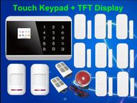 Livraison gratuite! Système d'alarme dislay Touch Keypad GSM quadri-bande, PSTN SMS Home Voice Security Burglar 99 Zone sans fil LCD intelligent