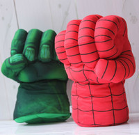 Wholesale OP High quality The Spider man Hulk Thor Boxing Gloves Superhero Figure fist Toys Kids Children Christmas gift
