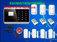 banding lcd - Touch Keypad LCD TFT display band Wireless Zone GSM PSTN SMS Home Security Voice Burglar Android APP Alarm