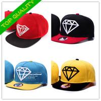 Cheap High quality Wholesale diamond snapback hats man women fashion hip hop embroidery diamond supply co hat for girls