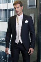 amazing wedding suits - 2014 Custom Made Fashion Amazing Groom Tuxedos Slim Fit Wedding Party Groomsman Suit Best men Vintage Bridegroom Suit Jacket Pants Tie Vest