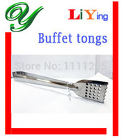 Wholesale Food tongs Stainless Steel kitchen pastry Tongs cm barbecue salad Tong Cooking Tools for Bread Picnic buffet serving tools accessories