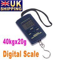 Cheap UK Stock To UK New 20g-40Kg 40Kg Digital Hanging Luggage Fishing Weight Scale UPS Freeshipping Dropshipping 10Pcs lot Wholesale