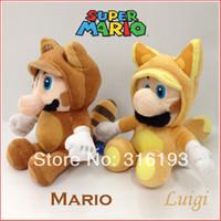 Wholesale OP X Super Mario D Land Plush Tanooki Mario Kitsune Luigi Character Toy Doll quot