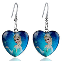 Wholesale New Frozen anna Elsa Mixed design Frozen Princess Elsa Anna Children Baby Girl Party princess Jewelry earrings