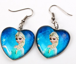 Wholesale Hot Selling Frozen anna Elsa Mixed design Frozen Princess Elsa Anna Children Baby Girl Party princess Jewelry earrings