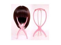 wig stand - 10pcs Wigs Stand Portable Foldable plastic Wig Hat Holder Support Display