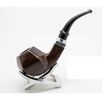 Cheap Wholesale-OP-Free shipping Smoking pipe Briar cigarette holder Mahogany pipes 9 in one set Carving Crafts