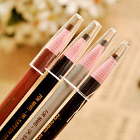Wholesale Waterproof Pull Pull Eyebrow pencil pen roll soft black eyeliner cosmetic make up
