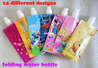 acid free plastic bags - OP Pieces Cartoon design Non toxic foldable bag Outside sports drinking bottles