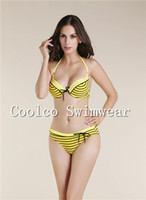 Wholesale Details about striped dress arrival Beachwear Top Striped bikini Trianglei swimsuit swimwear