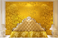 Cheap Classic Luxury European Acanthus Leaf Wallpaper Decorate Living Room TV Sofa Backdground Wall Paper Murals Papel De Parede Roll