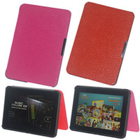 Wholesale 20pcs new style leather case for amazon kindle fire HD quot tablet pc with Magnetic function microfiber material by DHL
