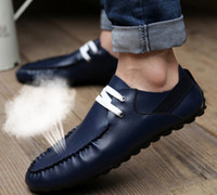Cheap The new 2014 doug shoes men's casual shoes breathable han edition British summer trend line of men's shoes with leather shoes