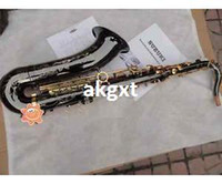 Wholesale HOT Specialized B Flat Black Nickel Tenor Saxophone Sax Brand with Bag MOU T801