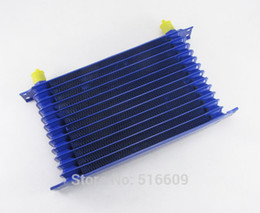 Wholesale 13 Row AN Blue Engine Transmission Oil Cooler Aluminum Powder Coated