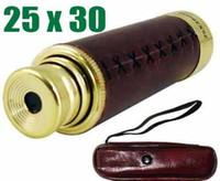 pirate telescope - brass Zoom Monocular Foldable telescopic Pirate Focus x30 Telescope Optics lens prism
