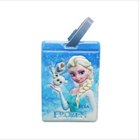 Wholesale 2014 New fashion blue tag frozen cartoon luggage tag for family travel luggage tag frozenc266