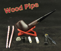Cheap Wholesale-OP-8 Tools Free 15cm Straight Smoking Pipe 9mm Filter Tobacco Briar Rosewood Smoking Pipe Gift Set