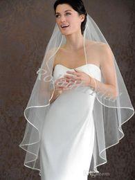 Wholesale Hot Seller LAYER White Ivory wedding Veils Short Bridal Wedding Accessories Veil bridal wedding veil With Satin band