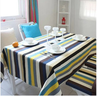 Wholesale IKEA striped tablecloths tablecloths Mediterranean style multi station Bugaboo size can be customized with a towel