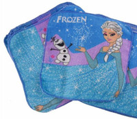 Wholesale Hot Frozen Elsa Princess Olaf Cartoon Face Towel cm Blue Children Party Gift