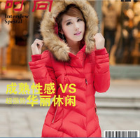 Wholesale Hot sold new winter heavy long down cotton padded jacket female slim big yards womens down jacket fashion coat for women