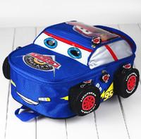 Venta por mayor-2015 4-10 años viejos niños mochilas niños de dibujos animados auto impresión mochilas niño Cool mochilas mochilas