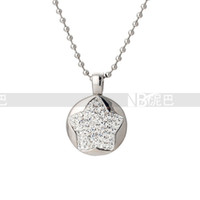 Cheap High Quality Women Luxury Costume Fashion Stainless Steel Necklaces & Pendants Crystal Star Statement jewelry