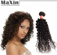 Cheap 3 Bundles Kinky Curly Brazilian Virgin Hair Human Hair Weft 100g Natural Black 1B Unprocessed Hair Extension Waves Waving