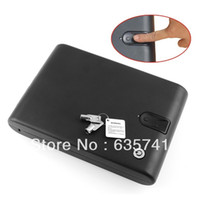 Cheap 120 Fingerprint Portable Gun Jewelry Safe Biobox Cable Biometrics Pistol Electronic New Free Shipping