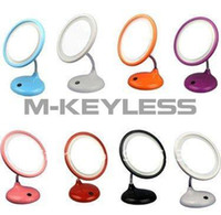 led light magnifying mirror - In stock Makeup Cosmetic Mirror x Magnifying With Led Light Dt109