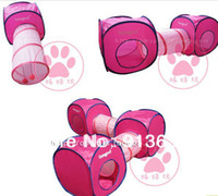 Wholesale Pet Kitten Toys For Cat Huge Play Collapsible Tunnel Cubes Cats Accessory Supplies Pet Playing Tunnels