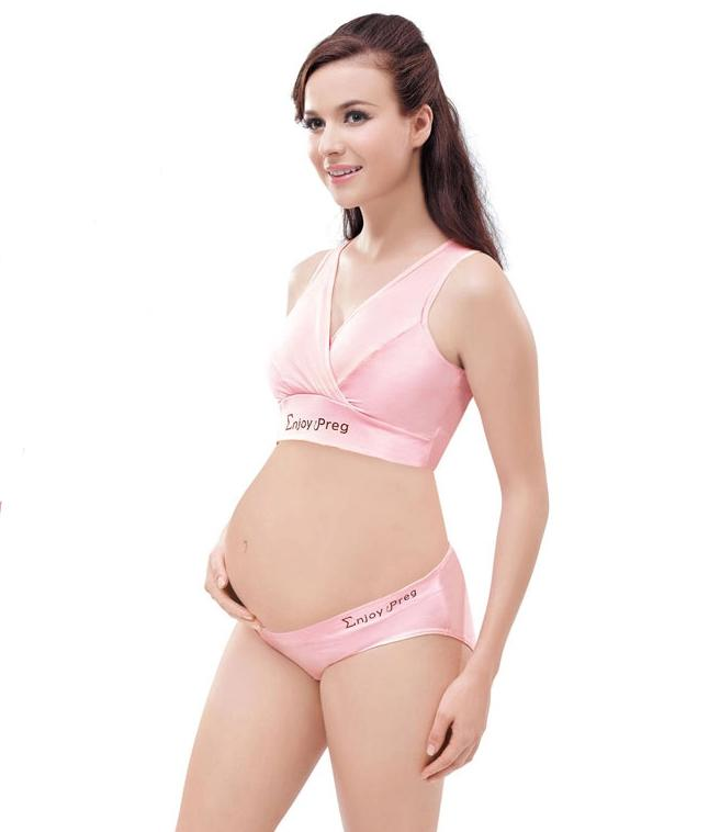 2017 Maternity Underwear Mother Cotton Bra Panties Plus Size ...