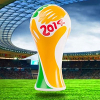 Wholesale 2014 World Cup Model Jewelry Souvenir Energy Cup Football Match Brazil s Soccer Star Collection