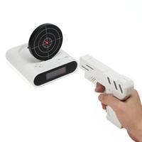 Wholesale for Infrared gun shot alarm clock pistol alarm clock lounged