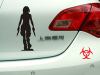 Cheap 7.6inch(19cm) Resident Evil Alice Car Sticker and racing Decal Car styling decorative auto film reflective tape white&black free shipping