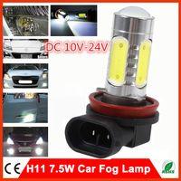 Wholesale 2PC H11 W HIGH POWER LED BULBS CAR HEADLIGHT FOG LAMP Light Bulb V REPLACE HALOGEN XENON for Ford Dodge BMW Audi Toyota