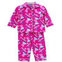 Cheap Free Shipping Brand New Peppa Pig girl girls long sleeved top + pants flannel flannelette winter pyjamas pajamas sleepwear pjs