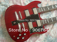 Cheap Brand new standard SG double neck electric guitar red guitars FREE SHIPPING