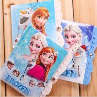 Wholesale frozen anna elsa olaf notebook school supplies children notepad hardcover with password