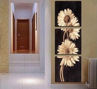 Cheap 3 panel framed oil painting Best Oil Painting Abstract painting picture